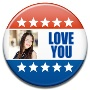 Election Campaign Button Photo