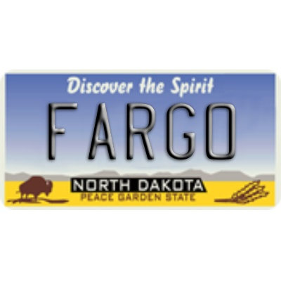 North Dakota License Plate