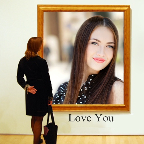 Frame with Woman - ImageChef